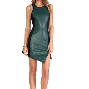 Lovers + Friends crocodile bodycon dress